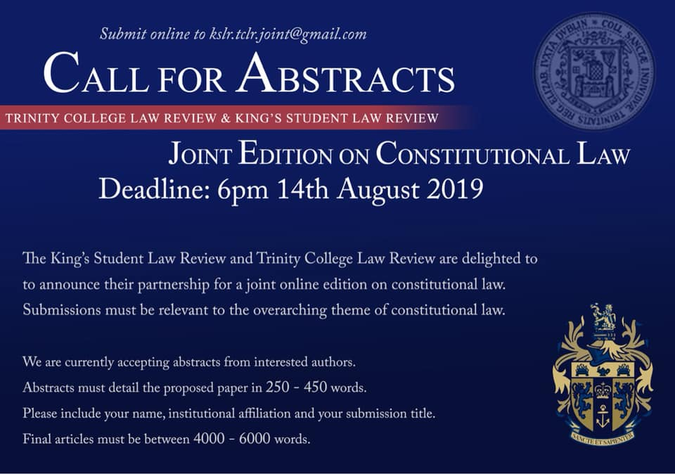 Partnerships | Trinity College Law Review (TCLR) | Trinity